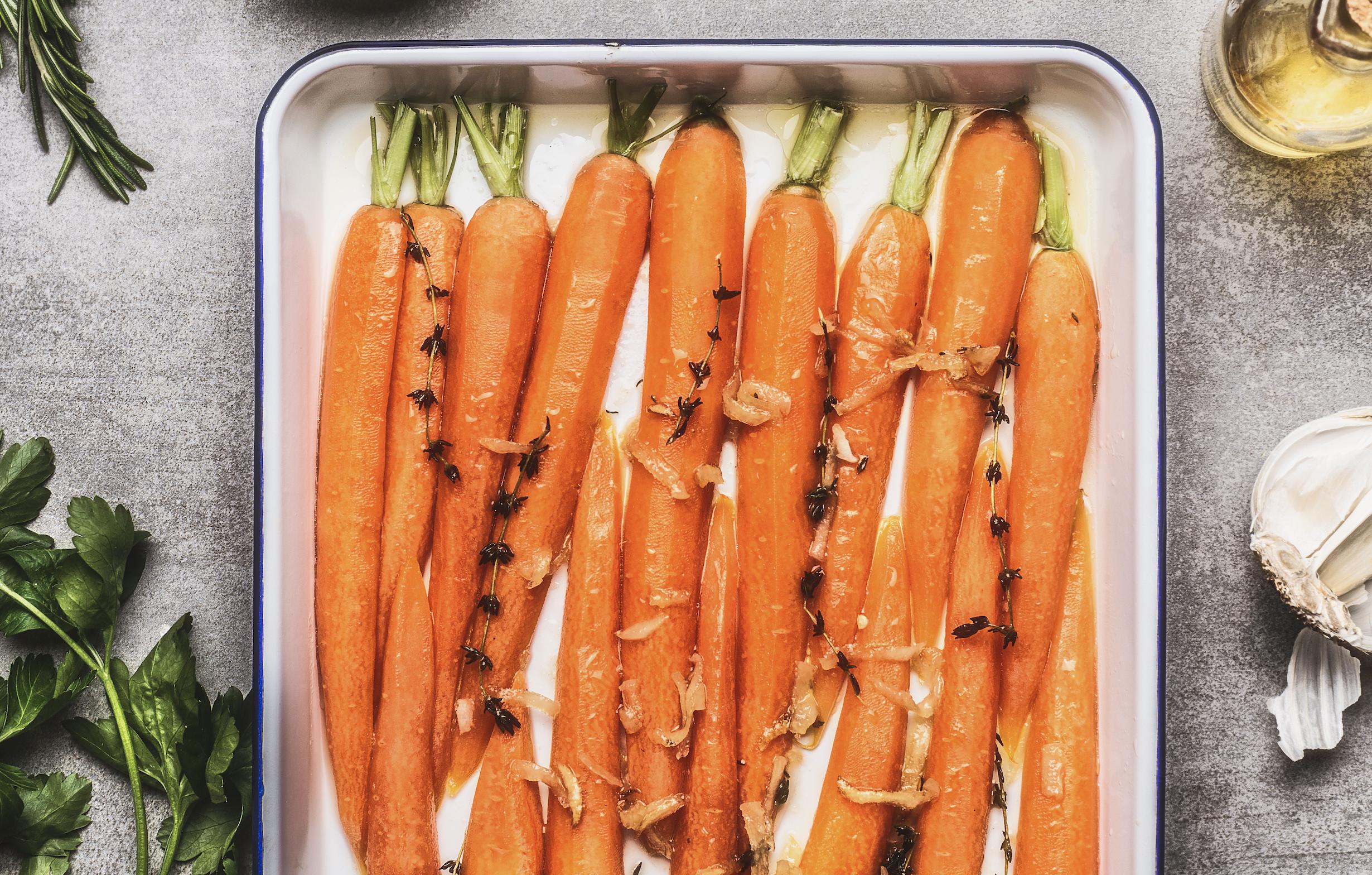 lemon honey roasted carrots